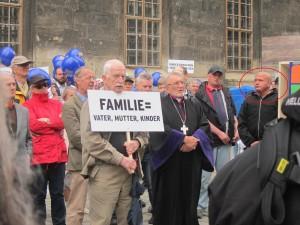 """Markus Freisinger beim """"Marsch für die Familie"""""""
